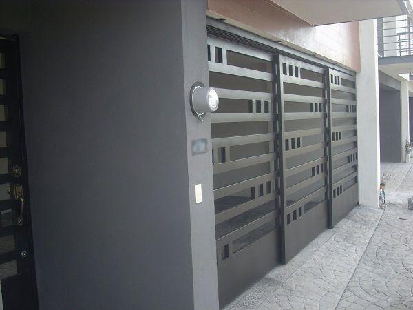 Herreria carmona portones contemporaneos for Puertas de frente modernas