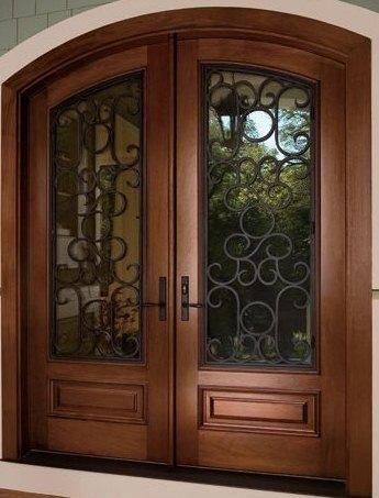 Herreria carmona puertas de forja for Puertas antiguas de madera de 2 hojas